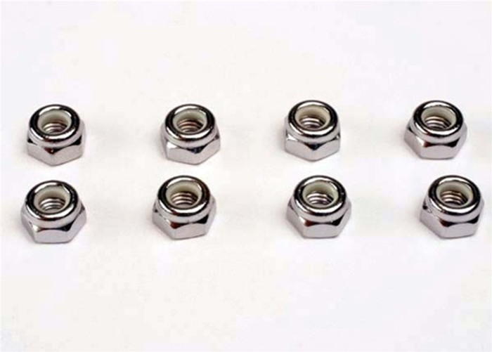Traxxas Nuts (5mm, nylon locking) (8), 4147