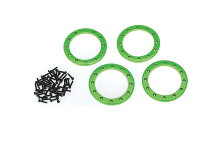 "Traxxas Green Beadlock Rings 2.2"" for TRX-4, 8168G"