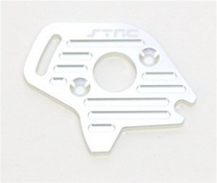 ST RACING CNC Machined Aluminum Finned Motor Plate Slash/Stampede 4x4 (Silver), 6890S