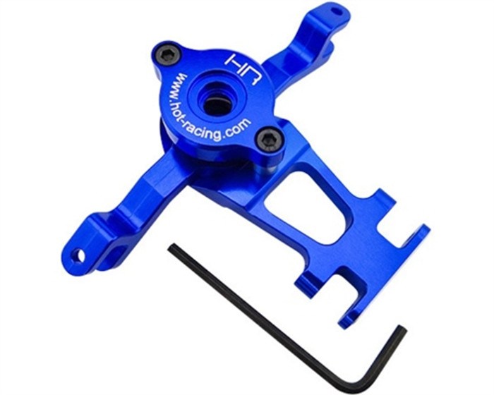Hot Racing Blue Aluminum Steering Assembly for Traxxas Revos