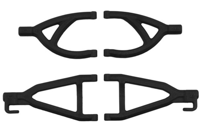 RPM Rear Upper & Lower A-Arms for Traxxas 1/16th E-Revo - Black, 80602