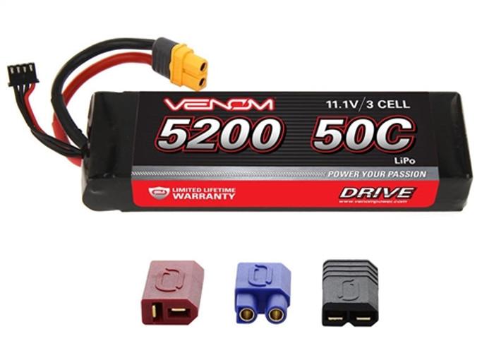 Venom 5200mAh 11.1V 3S 50C LiPo Battery - UNI Plug 2, 15173