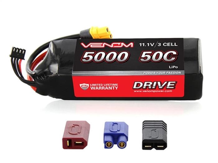 Venom 5000mAh 11.1V 3S 50C LiPo Battery - UNI Plug 2, 15059