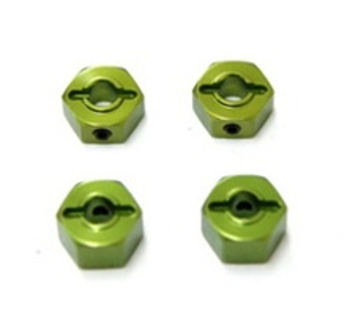 ST Racing Concepts 12mm Lock-Pin Style Aluminum Wheel Hex (Green) for Stampede/Rustler/Bandit/Slash, 3654-12G