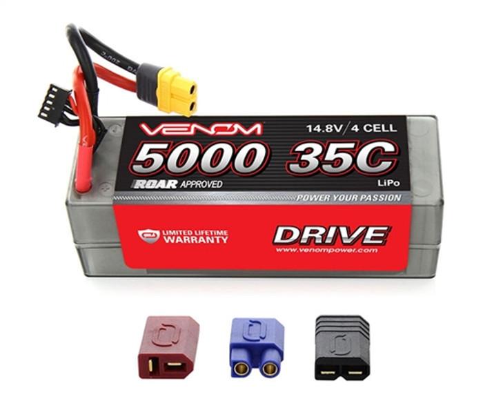 VENOM 35C 5000mAh 14.8V LiPo Hardcase ROAR App - UNI Plug 2.0, 15027