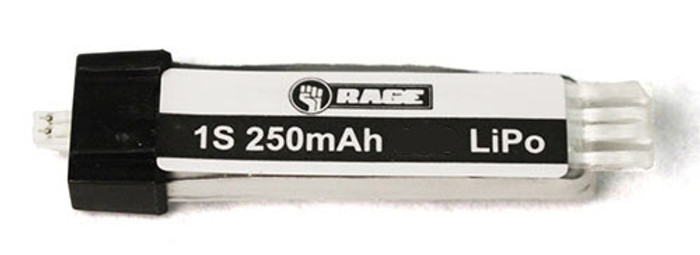 Rage 250mAh 1S 3.7V 60C LiPo Battery for Taylorcraft Airplane, A1286