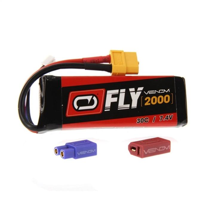 Venom FLY 30C 2000mAh 7.4V LiPo Battery - UNI Plug 2.0, 25023