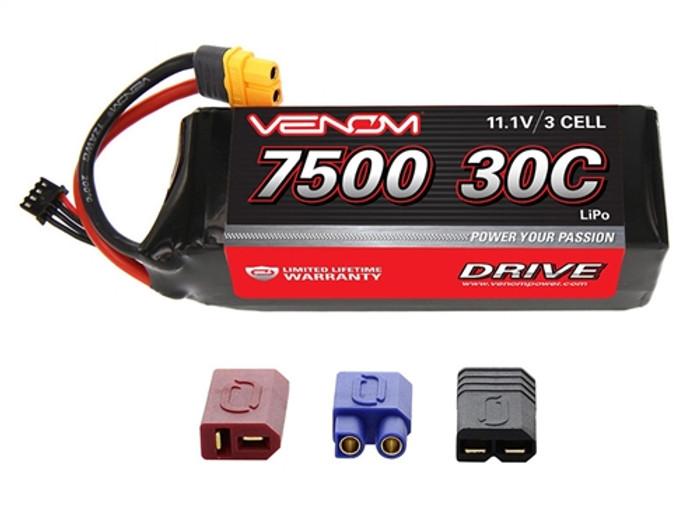 Venom 7500mAh 11.1V 3S 30C LiPo Battery - UNI Plug 2, 1552