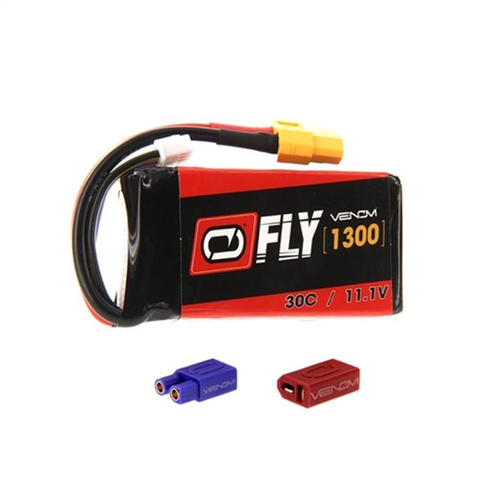 Venom FLY 30C 1300mAh 11.1V LiPo Battery - UNI Plug 2.0, 25028