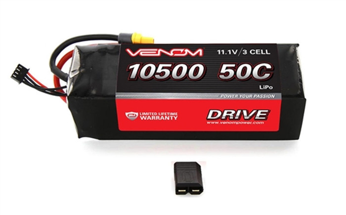 Venom 50C 10500mAh 11.1V Lipo Battery for Traxxas X-Maxx, 15187