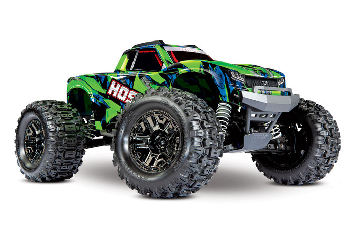 Traxxas Hoss 4X4 VXL 1/10 Brushless Monster Truck with TSM - Green, 90076-4