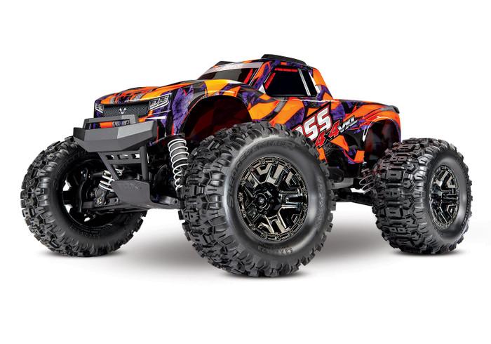 Traxxas Hoss 4X4 VXL 1/10 Brushless Monster Truck with TSM - Orange, 90076-4
