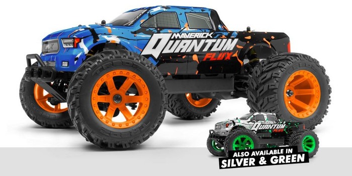 Maverick Quantum MT Flux Brushless 1/10 4WD Monster Truck RTR - Blue, 150200