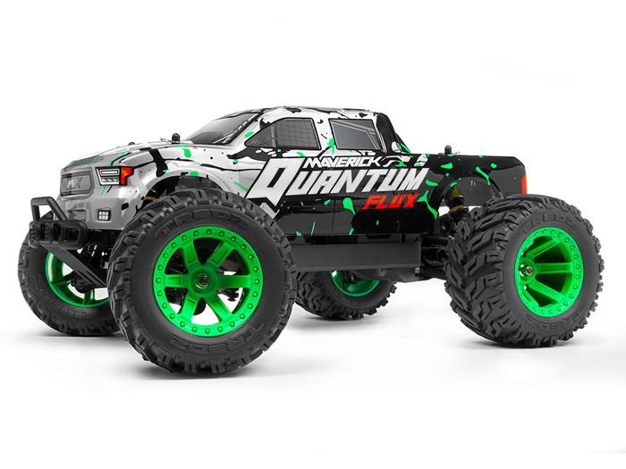 Maverick Quantum MT Flux Brushless 1/10 4WD Monster Truck RTR - Silver, 150201