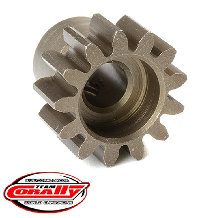 Team Corally 13T Mod 1.0 Hardened Steel Pinion Gear - 1/8, C-72713