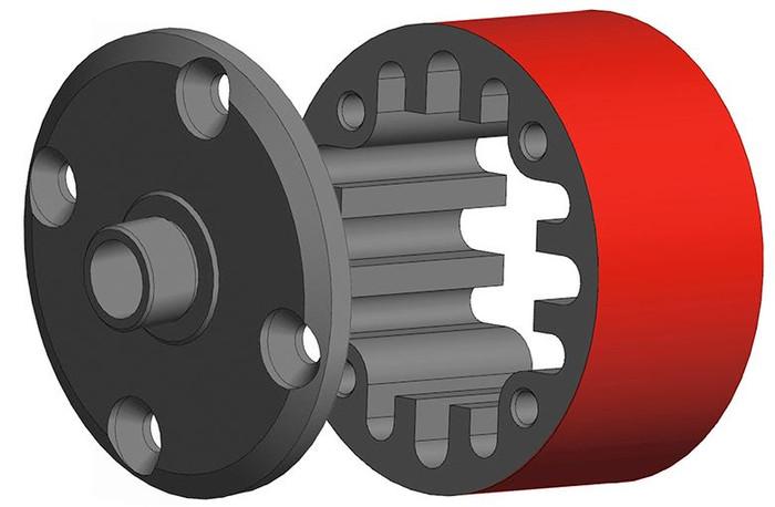 Team Corally 35mm Aluminum Center Differential Case - 1/8, C-00180-686