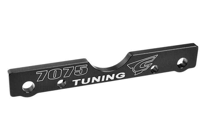 Team Corally Black Front-Rear (FR) T6 Aluminum Suspension Arm Mount - 1/8, C-00180-682