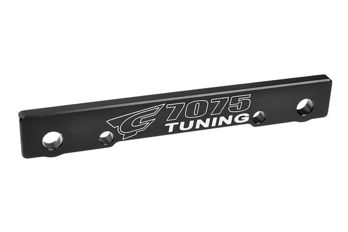 Team Corally Black Front-Front (FF) T6 Aluminum Suspension Arm Mount - 1/8, C-00180-683