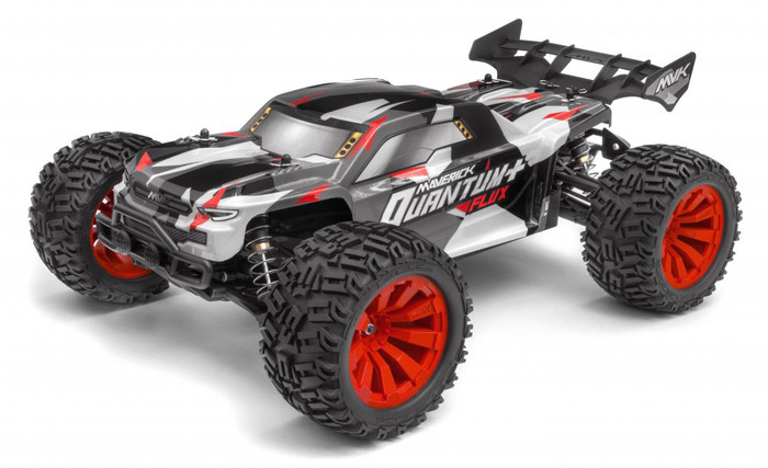 Maverick Quantum+ XT Flux 3S Brushless 1/10 4WD Stadium Truck RTR - Red, 150301