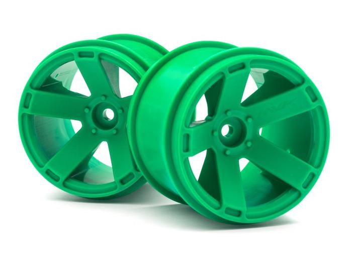 Maverick Green Wheels (2) for Quantum XT, 150164
