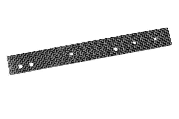 Team Corally 3mm Graphite Rear Chassis Stiffener Sheet for 1/8 Kronos XTR Roller Chassis, C-00180-677