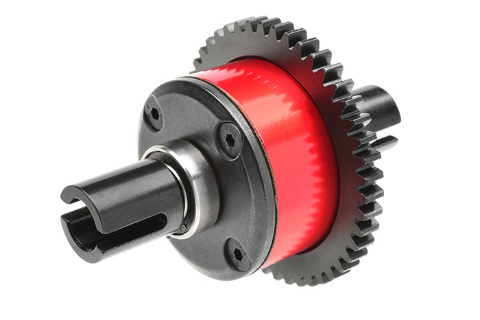 Team Corally Aluminum Center Diff Assembly Xpert Build with Steel 46-T Main Gear  - 1/8 6S Buggy, C-00180-685