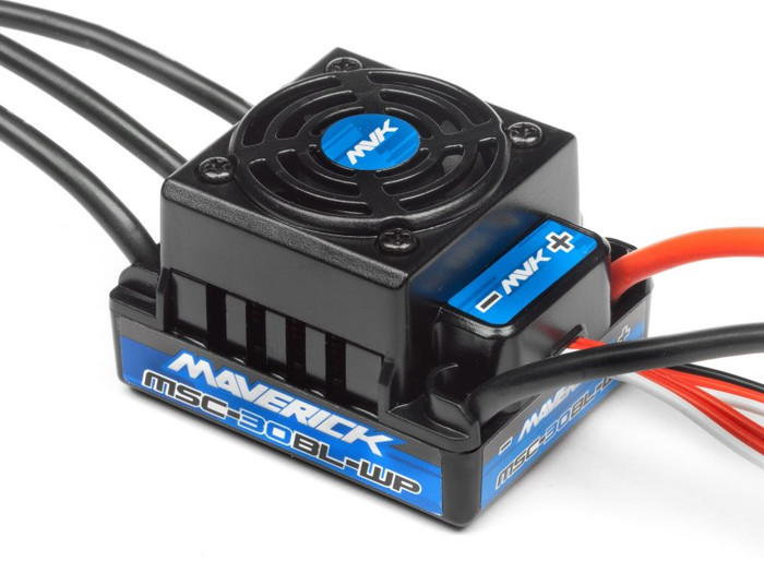 Maverick MSC-30BL-WP Brushless Electronic Speed Controller with T-Plug for Quantum MT/XT Flux, 30003