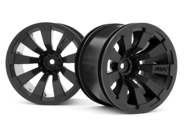 "Maverick Black 3.2"" Wheels for Quantum+ FLUX, 150246"