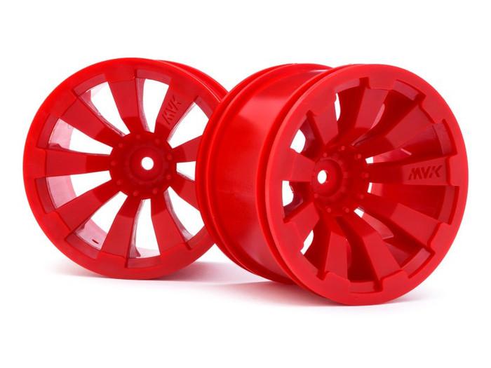 "Maverick Red 3.2"" Wheels for Quantum+ FLUX, 150247"