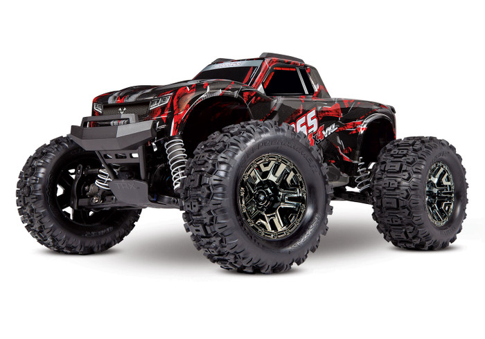 Traxxas Hoss 4X4 VXL 1/10 Brushless Monster Truck with TSM - Shadow Red, 90076-4