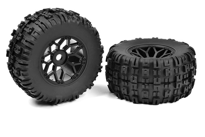 Team Corally Off-Road 1/8 Monster Truck Mud Claw Tires/Wheels, C-00180-612