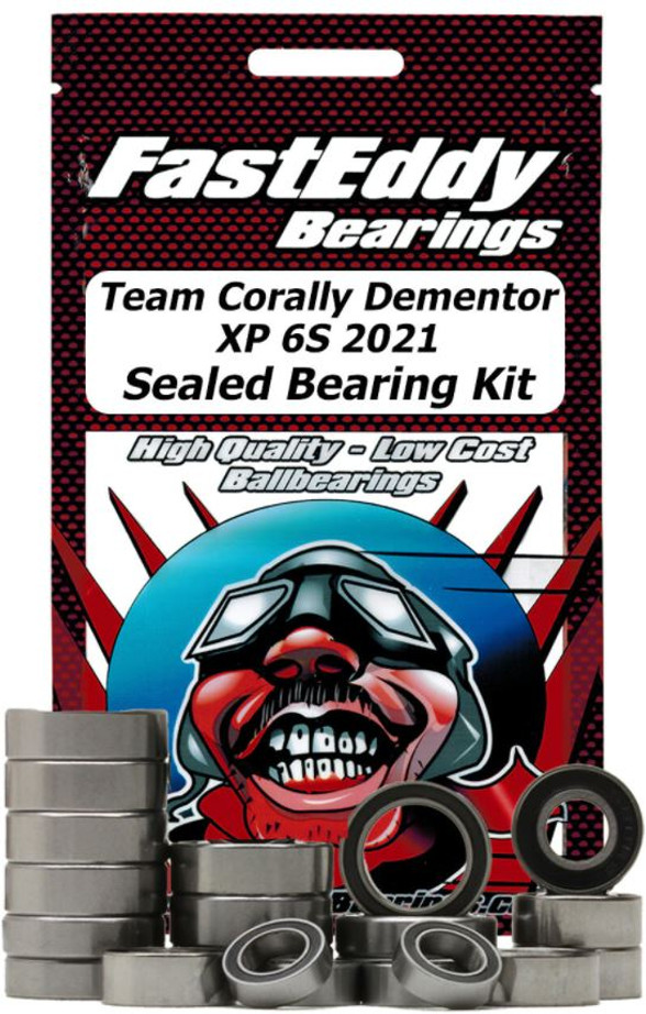Fast Eddy Team Corally Dementor XP 6S 2021 Sealed Bearing Kit, 6607