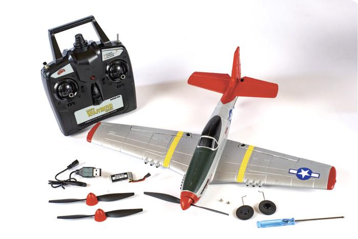 Rage P-51D Mustang Micro RTF Airplane w/PASS, A1300