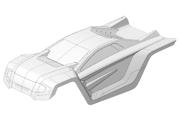 Team Corally Clear PC Body for 1/8 Shogun XP V2 2021, C-00180-385