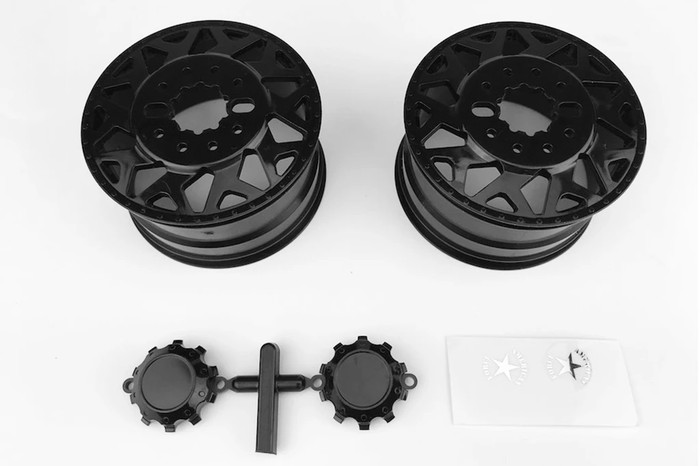 CEN Racing American Force H01 Contra Wheels (Black w/ Black Cap) DL- Series for Ford F450, CD0603