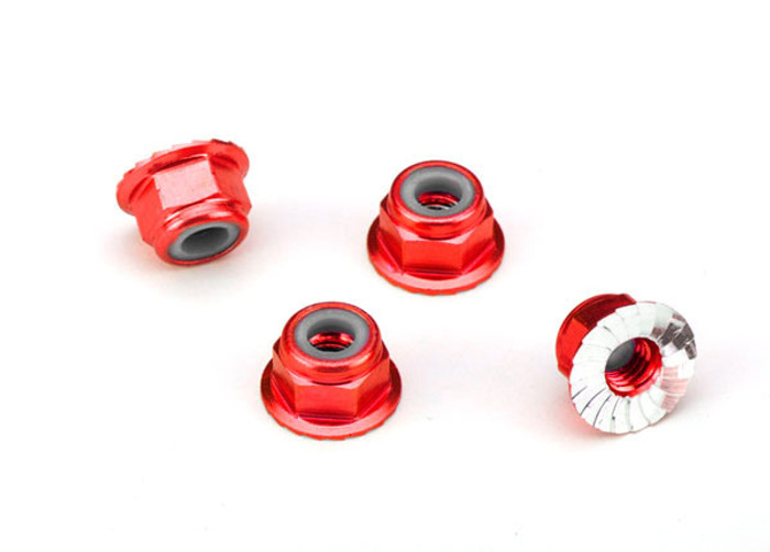 Traxxas Aluminum Nuts (4mm, Red Anodized), 1747A