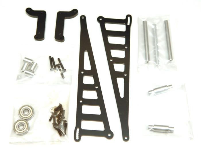 ST Racing CNC Machined Aluminum Wheelie Bar Kit for DR10 - Black, 71071BK
