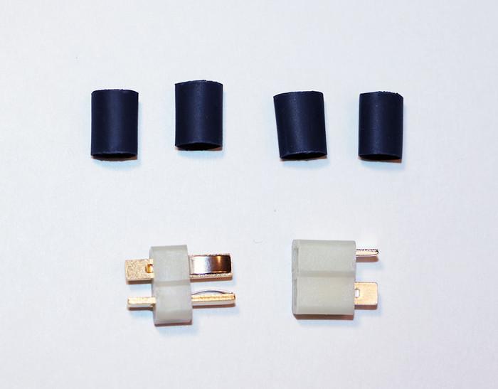 Deans White HW High Temp Ultra Plug for 10-12 Gauge Wire (1-pr), 1323