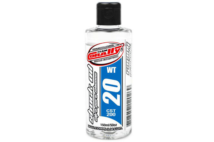 Team Corally 20Wt Ultra Pure Silicone Shock Oil - 150ml, 81920