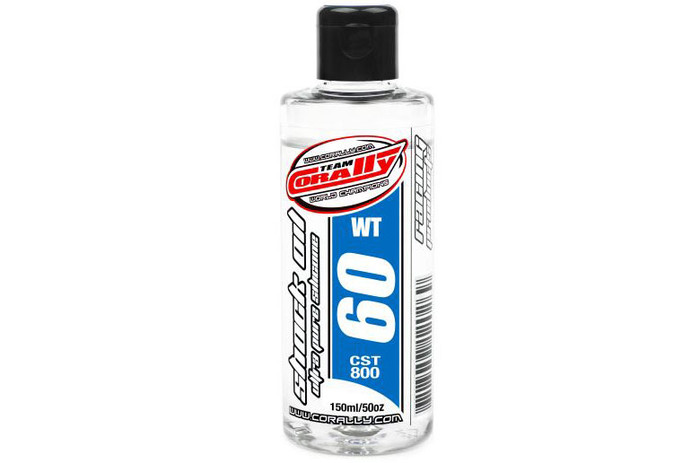 Team Corally 60Wt Ultra Pure Silicone Shock Oil - 150ml, 81960