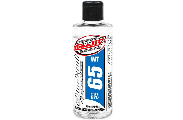 Team Corally 65Wt Ultra Pure Silicone Shock Oil - 150ml, 81965