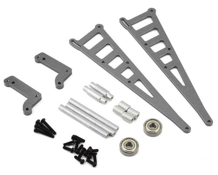 ST Racing CNC Machined Aluminum Wheelie Bar Kit for DR10 - Gun Metal, 71071GM
