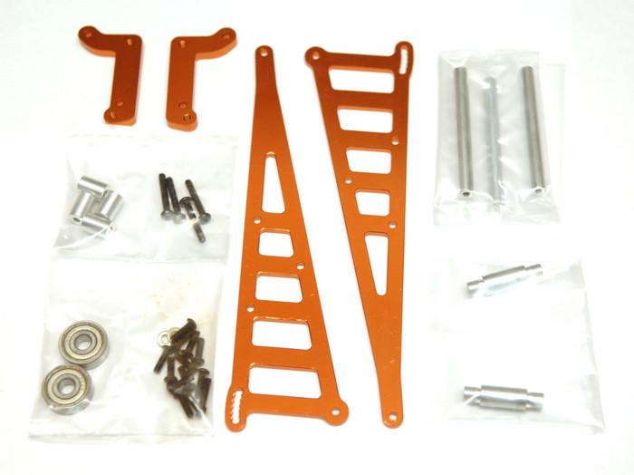 ST Racing CNC Machined Aluminum Wheelie Bar Kit for DR10 - Orange, 71071O