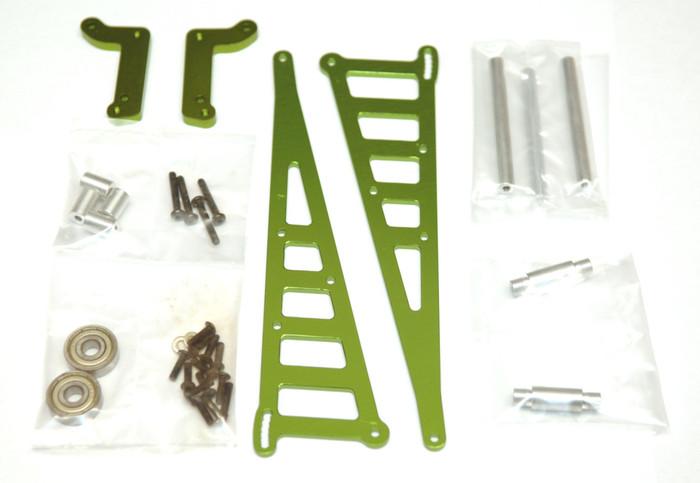ST Racing CNC Machined Aluminum Wheelie Bar Kit for DR10 - Green, 71071G