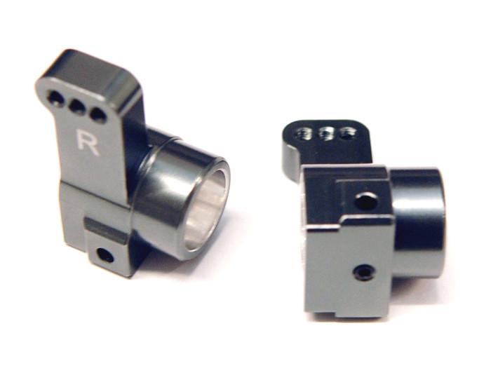 ST Racing CNC Machined Aluminum Rear Hub Carriers, 0 Deg Toe-In for DR10 - Gun Metal, 91418-T0GM