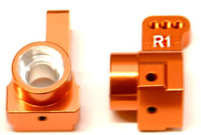 ST Racing CNC Machined Aluminum Rear Hub Carriers, 1 Deg Toe-In for DR10 - Orange, 91418-T1O