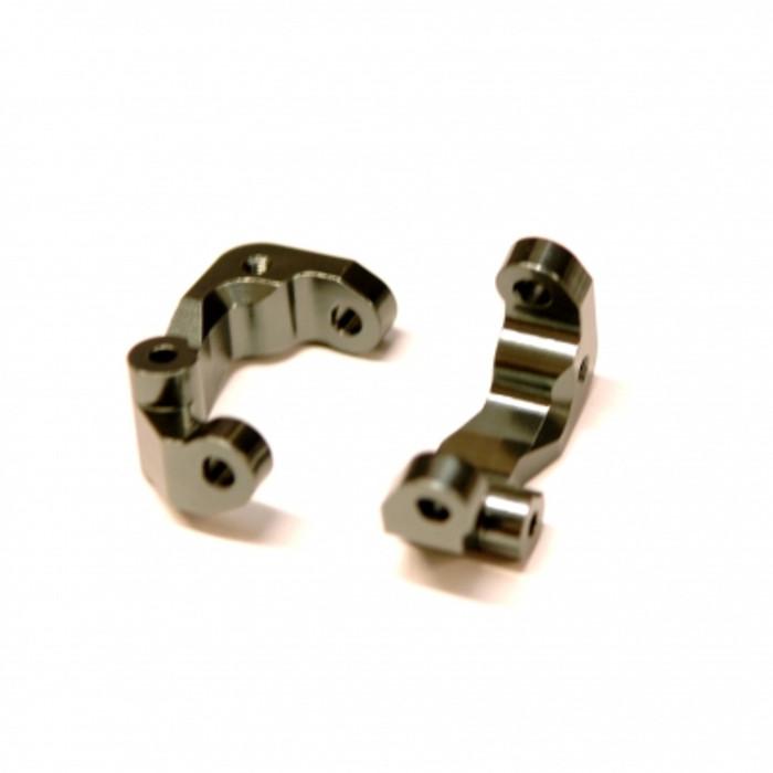 ST Racing CNC Machined Aluminum Caster Blocks for Associated DR10 - Gun Metal, 91417CGM