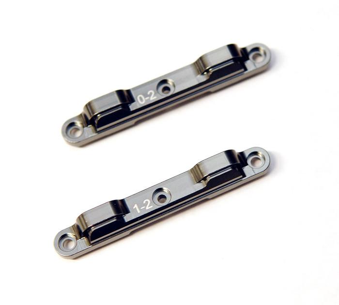 ST Racing CNC Machined Aluminum Rear Toe-In Suspension Block Combo Set for DR10 - Gun Metal, 91359CGM
