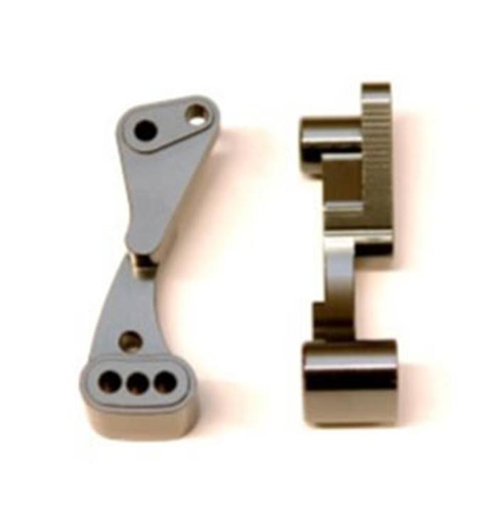 ST Racing CNC Machined Aluminum Wheelie Bar Mount for Associated DR10 - Gun Metal, 71070GM