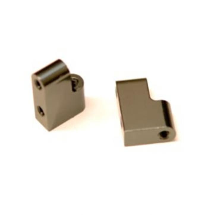 ST Racing CNC Machined Aluminum Steering Servo Mount for Associated DR10 - Gun Metal, STC91391SGM